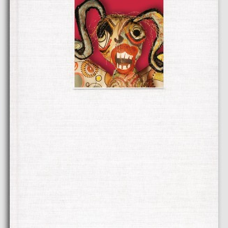 "Hysteria, 2003. 7 ¼"" x 12 ¼""; Handbound, cloth, edition of 50. Perfect-bound, paper, edition of 100. A collection of poetry, prose, and visual art on the subject of women's mental health, featuring over 30 authors and artists, with an introduction by Jane M. Ussher, Professor and Chair of Women's Health Psychology, and Director of the Gender Culture and Health Research Unit, University of Western Sydney, Australia"